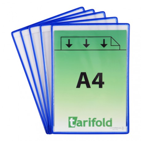 Samolepící modré kapsy A4/5ks