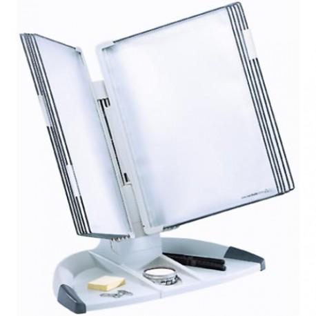 Pultový stojan Design A4 s 10ti kapami šedý
